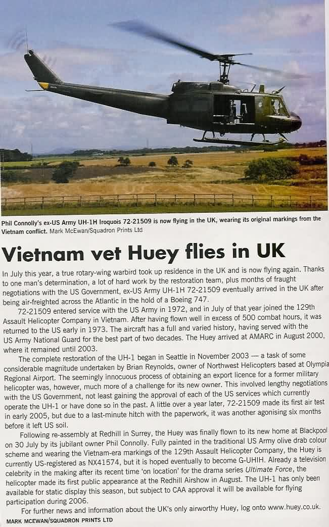 Huey Article in Aircraft Illustrated October 2005