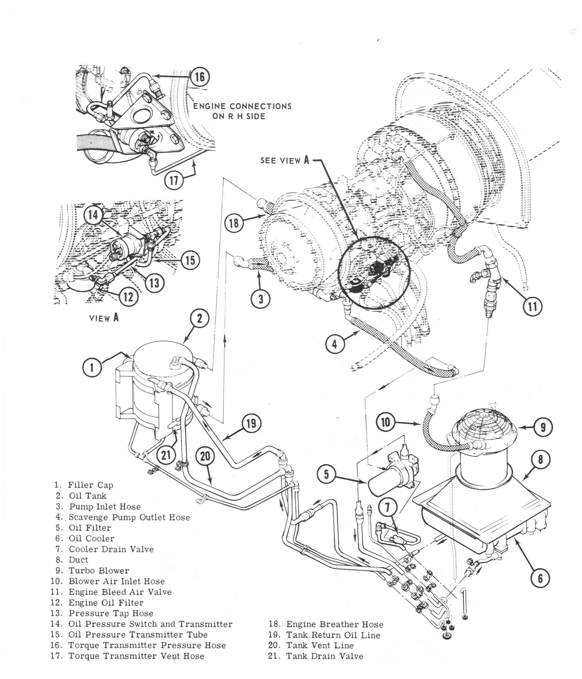 Engine Oil System Installation on Hydraulic Cylinder Exploded Diagram