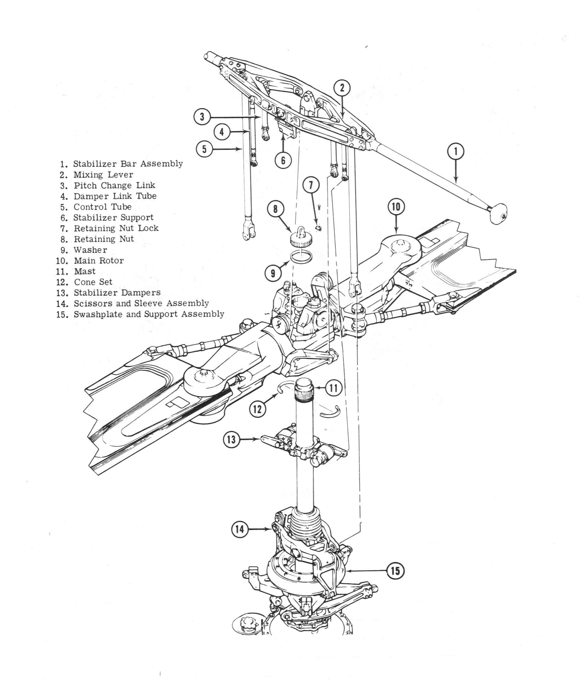 Bell Model 205a 1 Image Downloads Free Download Inf 2 Wiring Diagrams Main Rotor Installation